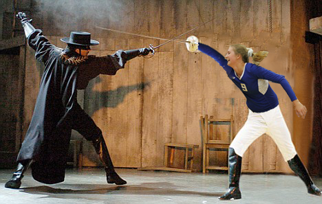 In this captivating scene of Zorro, Zorro is faced off with a new opponent, the fearless Lindsay Worsham. This scene captures the tense struggle between what is right and what is wrong, and how this troubled high school student is coping with a C in AP Environmental Science, possibly. Youre never sure what the character is truly going through, and thats what entices the audience, Lead cinematographer Chris Hagin said.