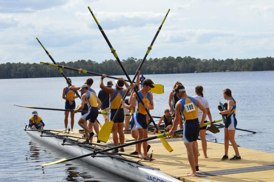 Boys+and+girls+crew+prepare+for+the+upcoming+season+by+practicing+rowing+in+their+lightweight+boats+called+shells.+Each+boat+is+steered+by+a+coxswain+%28pronounced+cox%27n%29+who+coordinates+the++rhythm+of+the+rowers.
